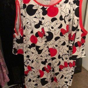 Disney Minnie Mouse cold shoulder t shirt